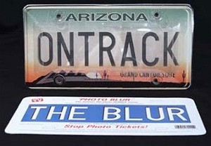 OnTrack Photo Blur License Plate Cover