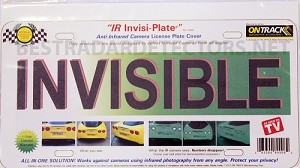 Ontrack IR Invisi-Plate Anti Infared Plate Cover